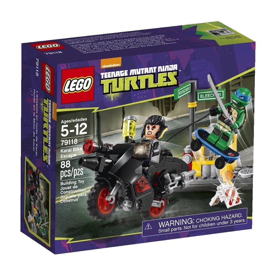 79118 KARAI BIKE ESCAPE lego NEW legos set TMNT leonardo NINJA TURTLES