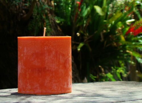 70hr BAY RUM Premium Triple Scented Natural TALL PILLAR CANDLE Christmas Gifts