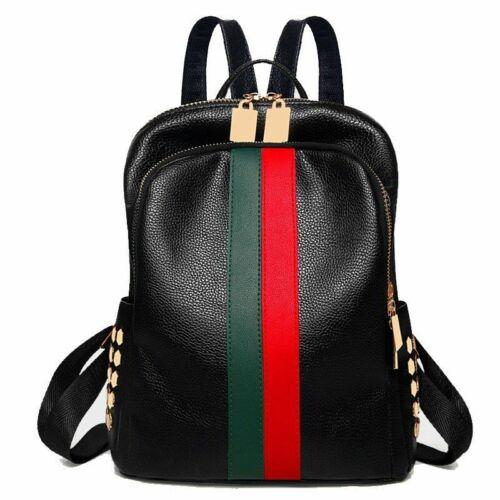 Ladies Backpack Luxury Leather Bag Pattern Tote Handbag School Bag For Women New