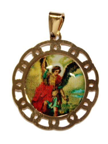 St. Michael Archangel 18k Gold Plated with 20 inch Chain San Miguel Arcangel