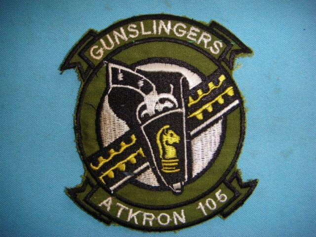 PATCH US NAVY ATTACK SQUADRON  ATKRON VA-105 GUNSLINGERS