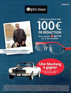 Détails sur Publicité Advertising 117 2009 Optic 2000 lunettes Johnny Hallyday & Mustang