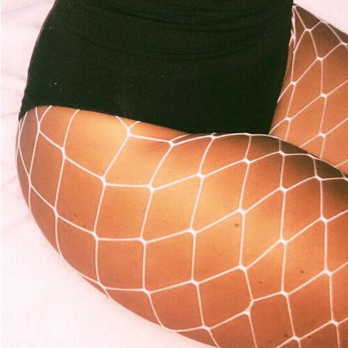 Lady Women Fishnet Net Pattern Burlesque Hoise Pantyhose Tights White Large Hole