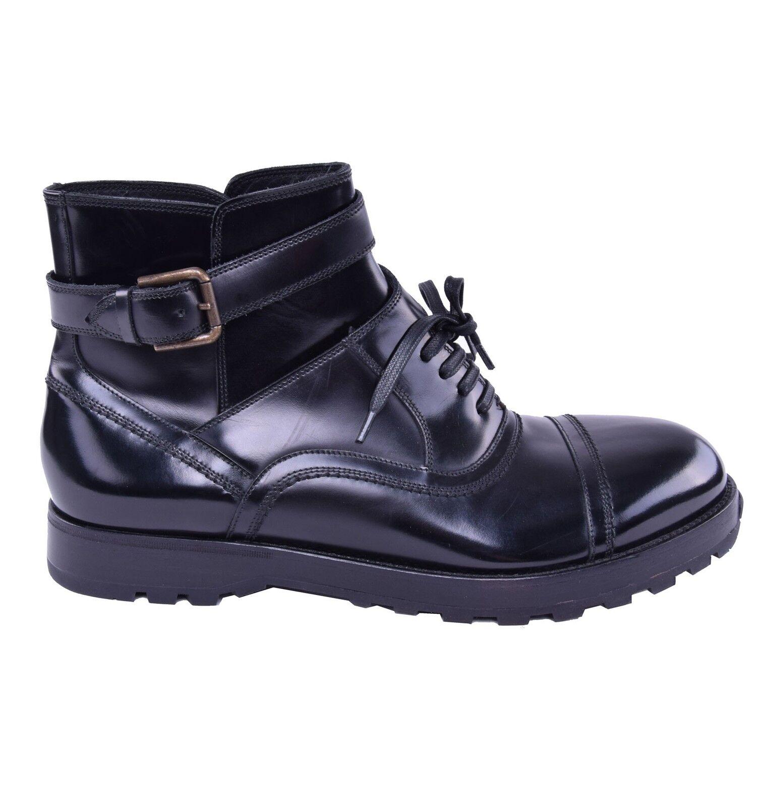 Dolce & SCARPE GABBANA fissa STIVALETTI CON FIBBIA SCARPE & NERE Boots 03842 8c1db6