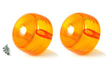 2X Amber Turn Signal lens for Yamaha AT CS DT HS GT80 L5T LB R5 YR1 2 YCS1 XS1