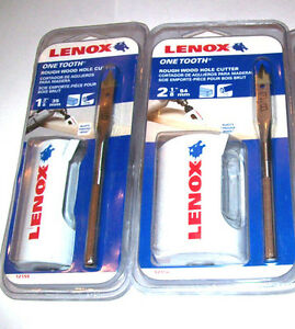 "Pack Of 2 Lenox  3//8/"" Spade Pilot Bit One Tooth Rough Wood Hole Cutter"