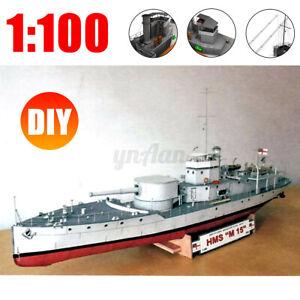 1-100-Scale-Paper-Model-Kit-British-M15-Class-Patrol-Boat-Paper-Model-Kit-DIY