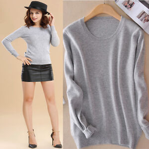 Fashion-Women-Ladies-Round-Neck-Long-Sleeves-Knitted-Sweaters-Pullover-Outwear