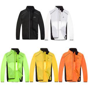 Unisex Bike Cycling Jacket Jersey Long Sleeves Wind Coat windbreaker Top