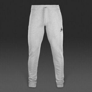 Le-Coq-Sportif-Uomo-Ess-Pant-SLIM-GRIGIO-CHIARO-Jogging-Pantaloni-Grandi-L-Nuovo-di-Zecca
