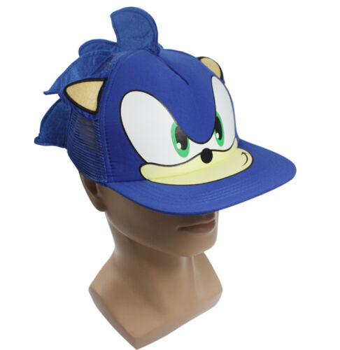 Sonic The Hedgehog Cosplay Sun Hat Baseball Net Cap Headwear Costume Blue NR7