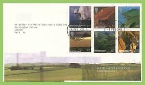 Graham-Brown-2005-South-West-Inglaterra-el-Palacio-de-Buckingham-Cds-Royal-Mail-primer-dia-cubierta