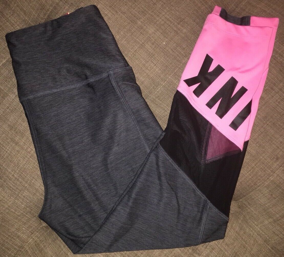 Nwt Victoria's Secret Pink Ultimate High Waist Mesh Ankle Legging XS xsmall