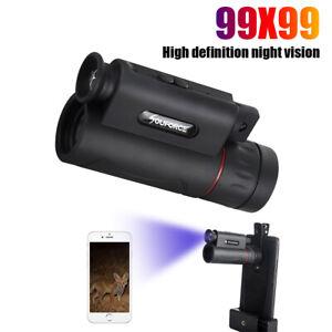 99X99 BAK7 Prism HD Zoom Monoculars Night vision+LED light+laser Travel Camping