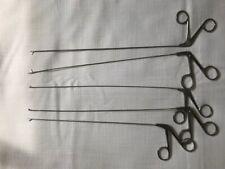 Lot Of 5 Graspers Circon Acmiauto Suture And Clarus Semi Rigid Graspimg Forceps