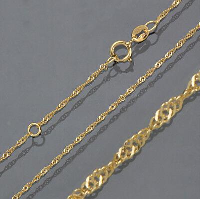 Venezianer Goldkette Gold 333 Kette 45 cm 1 mm Goldkette Goldschmuck Schmuck Neu
