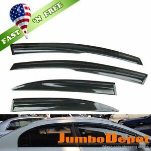 Fit 06-11 Honda Civic 4DR Sedan Wavy Mugen Style Window Visors Rain Guard Smoke