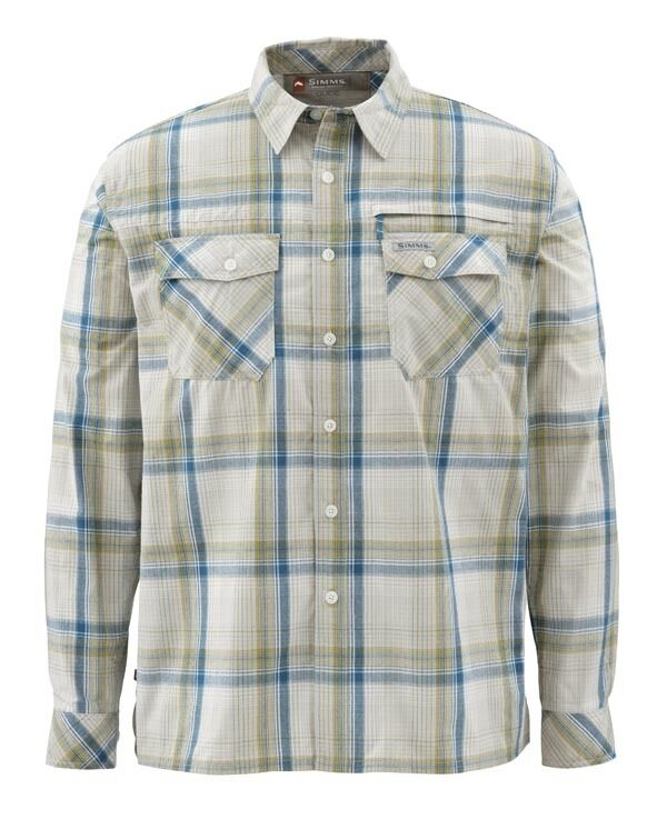 Simms Kenai Long Sleeve Shirt  Ink Plaid NEW  Size Large  CLOSEOUT
