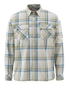 Simms Kenai Long Sleeve Shirt ~ Ink Plaid NEW ~ Size Large ~ CLOSEOUT