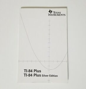 Texas-Instruments-TI-84-Plus-Silver-Calculator-Owner-Instruction-Manual-Only