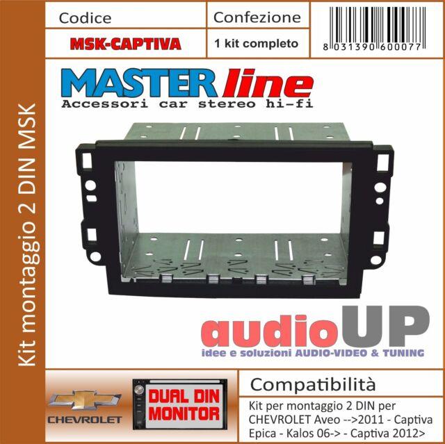 MASCHERINA  AUTORADIO 2 DIN ADATTATORE PER CHEVROLET AVEO FINO AL 2011.