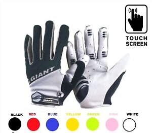 Cycling-Gloves-GIANT-TouchScreen-Winter-Bicycle-Bike-Full-Finger-Cycle-GLOVES-UK
