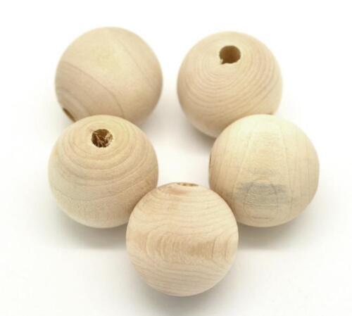 50stk Holzperlen Natur RUND 12mm für Schmuck Basteln H122#50stk