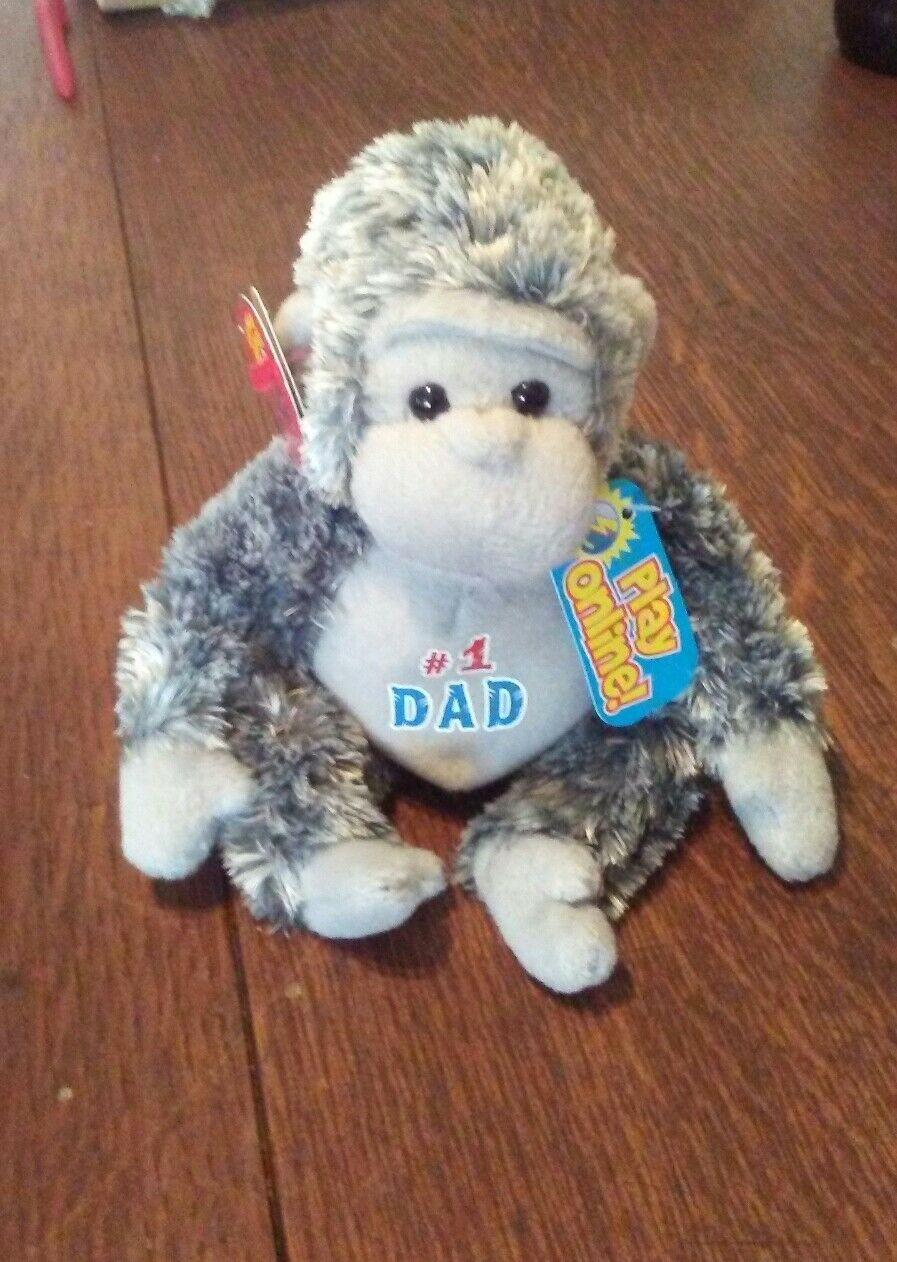TY POPS the FATHER'S DAY GORILLA 2.0 BEANIE BABY - MINT TAGS -