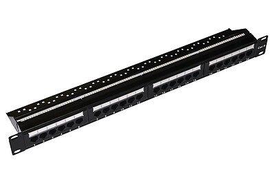 Patch Panel 24 Porte Cat6 Per Rack 19'' Cat5e Rj45 Utp 8 Poli Categoria 6 Armadi Superiore (In) Qualità