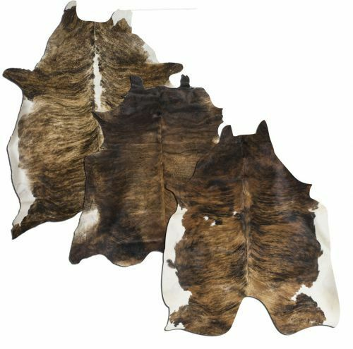 Hair on Cowhide Full BRINDLE silverina COW HIDE Rug Beautiful & High Quality