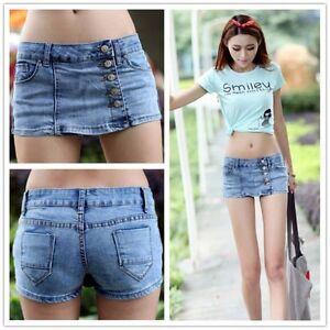 Retro Denim High Waist Shorts Womens Girl Jeans Hot Pants Vintage