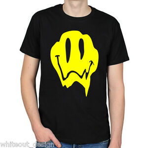 ACID-SMILEY-FACE-MELTING-TRIPPY-LSD-PSYCHEDELIC-RAVE-HIPPY-FESTIVAL-UNISEX-TEE