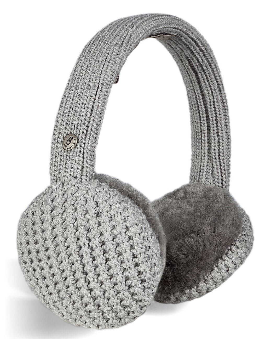 Protège-oreilles UGG en Peau de mouton gris Great Jones NEW