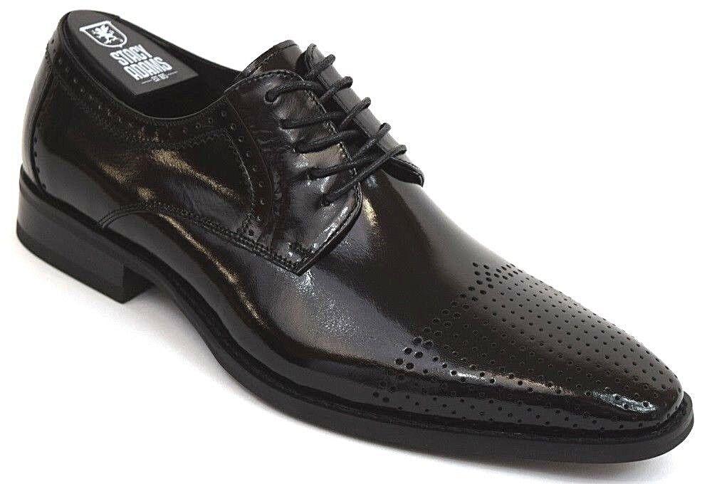 Zapatos De Vestir para Hombres Cap Toe Oxford Negro Cuero Stacy Adams con Cordones 25156 SANBORN