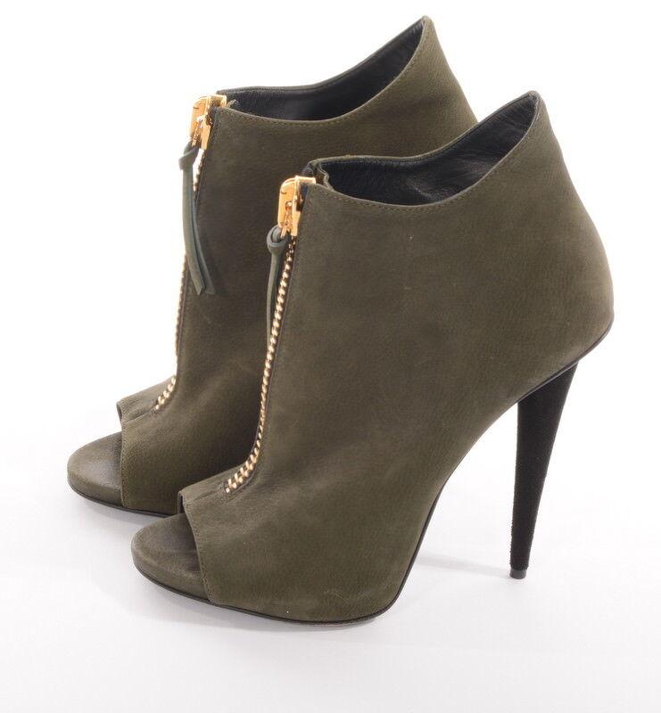 Giuseppe Zanotti heels Booties botas sandalias PEEP nuevo TOE como nuevo PEEP 7ffd3d