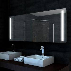 Lux-aqua Alu badezimmer spiegelschrank bad LED Beleuchtung 160x68cm ...