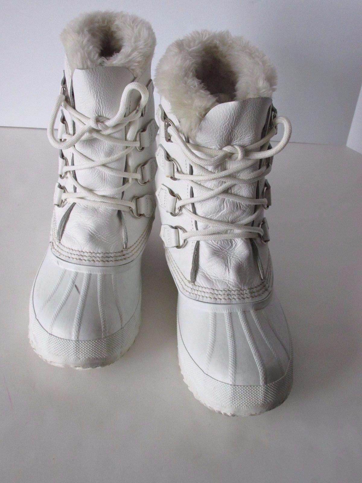 negozio di vendita outlet Sorel bianca Leather Removable Felt Lined Waterproof Snow Snow Snow Winter avvio Donna  9M  negozio di moda in vendita