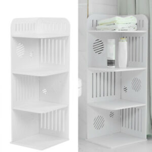 promo code e775b 522b3 Details about White Waterproof Bathroom Cabinet Wood-Plastic Storage  Cabinet Shelf Cupboard