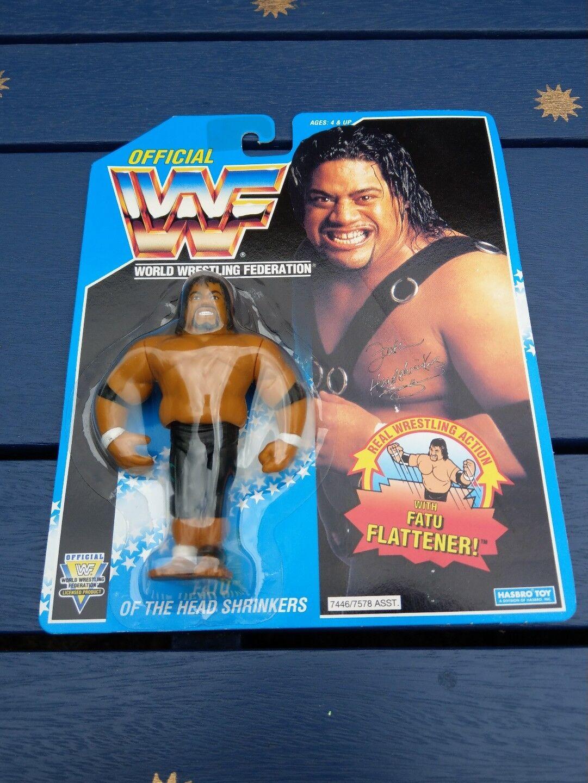 WWF/WWE Headshrinker Fatu Vintage Hasbro Action Figure 1994 Series 10 MOC