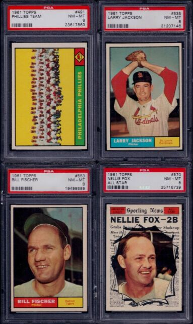 PSA 8 1961 Topps #535 Larry Jackson St. Louis Cardinals TUFF HI# SET BREAK