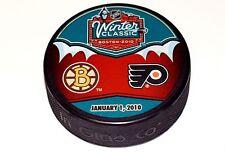 2010 NHL Winter Classic Dueling Style Puck Boston Bruins vs Philadelphia Flyers