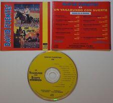 cd: DAVID FUENTES - UN VAGABUNDO CON SUERTE - MUSICA DE LA PELICULA