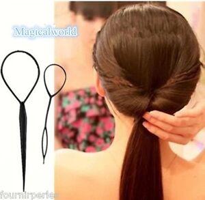 FP-1-Set-Outil-Magique-DIY-Cheveux-Coiffure-Creation-Chignon-Noir-Femme-Fille
