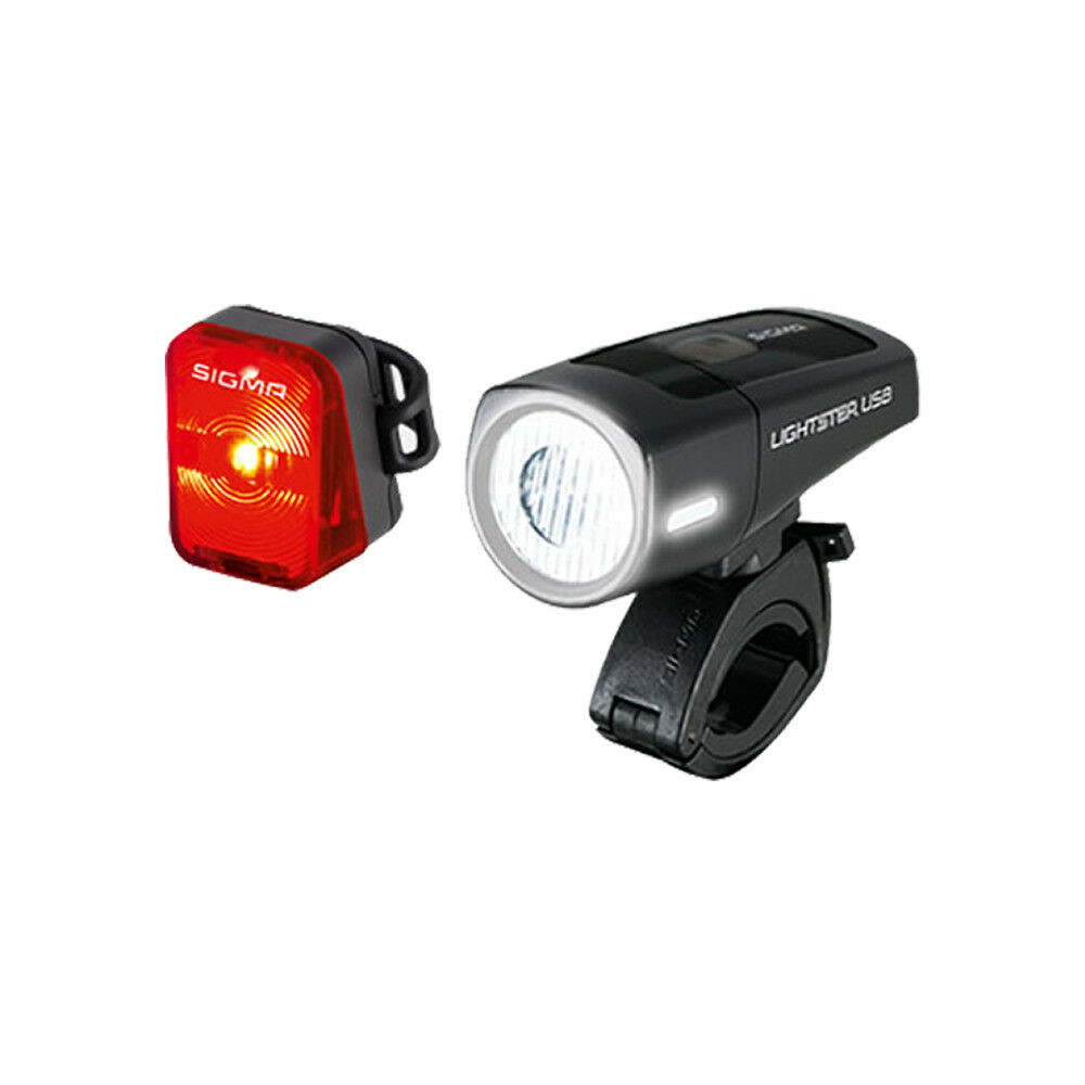 Sigma luces LED Frontal LÁMPARA lightster USB 32 lux lux lux + LED faro trasero Pepita b8753a