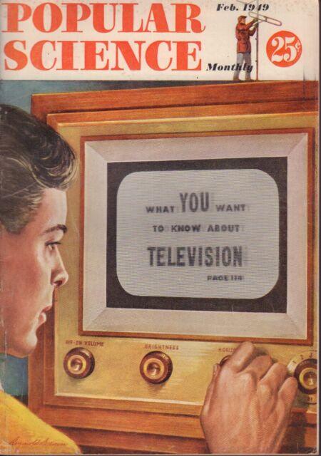 Popular Science Magazine February 1949 Television 102017nonjhe