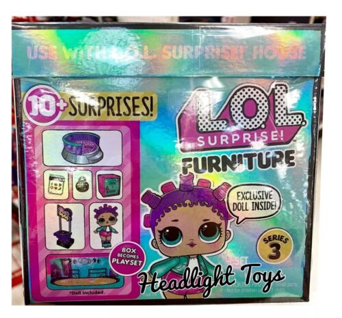 4 LOL Surprise Series 3 Doll Furniture Sets School Sleepover Roller Rink Office