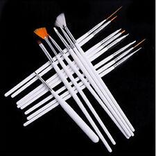 15 x Beauty Weiß Nagel Kunst Malerei Design Dotting Polieren Bürste Pen Zubehör