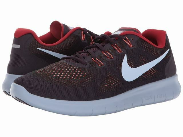 Nike Men's Free Run Running shoes-Black Hydrogen bluee-tough Red - New