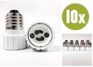 10-x-Adapter-E27-GU10-Lampenfassung-Konverter-Sockel-Lampensockel-Fassung-10x