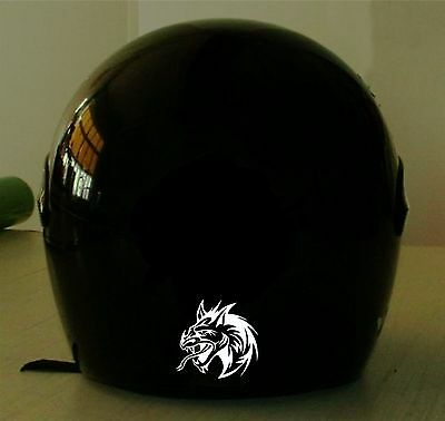 DRAGON HEAD REFLECTIVE MOTORCYCLE HELMET DECAL..2 DECALS FOR 1 PRICE